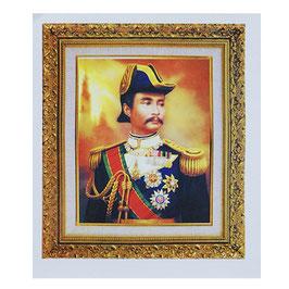 タイ 王室 ステッカー チュラーロンコーン国王(ラーマ5世) 肖像 Mサイズ typeA - タイ雑貨 アジアン 雑貨 スーツケース トランク 旅行 グッズ -