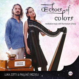 Meditative Music CD - Harp and Harmonium - ECHOES OF COLORS - Digital download