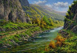 Río por el desfiladero de la Hermida