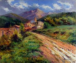 Pueblo en una ladera
