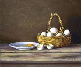 Cesta de huevos