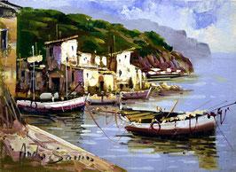 Barcas de pesca en el muelle