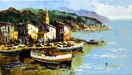 Barcas y pueblo