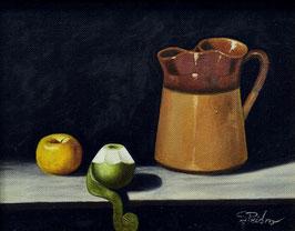 Jarra con manzana y pera