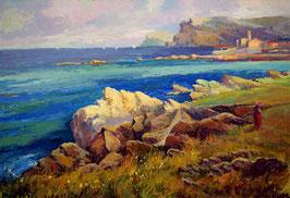 Pueblo en la costa