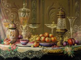 Fruta y cristalería