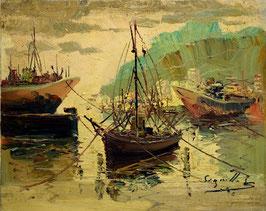 Pesqueros en el puerto