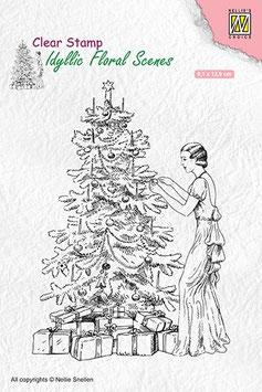 IFS019   Moeder versiert de kerstboom