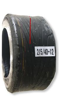 Hinterreifen Gummi 215-40-12