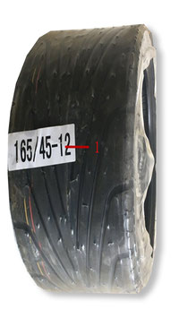 Vorderreifen Gummi 165/45 -12