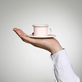 Emaille Espresso Tasse, altrosa