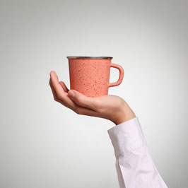 Kaffeetasse Lachs Sprenkel
