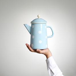 Emaille (Kaffee-) Krug, Blau