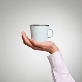 Kaffeetasse Kristall Sprenkel