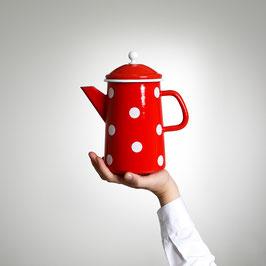 Emaille (Kaffee-) Krug, Rot
