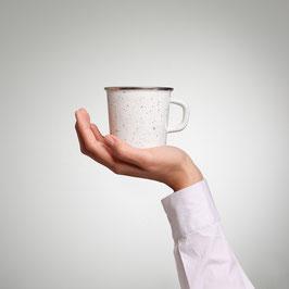 Kaffeetasse Schwarz Sprenkel - innen schwarz