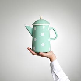 Emaille (Kaffee-) Krug, Grün