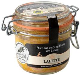 Foie Gras de Canard entier des Landes nature Lafitte en bocal