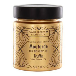 Moutarde pot doré à la truffe noire Savor & Sens