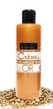 Crème de vinaigre blanc pailleté or 20cl