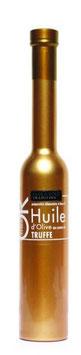 Huile d'olive bouteille dorée à la truffe noire