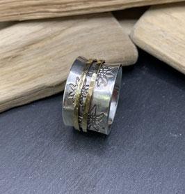 Ring Silber 925 mit Edelweissprint
