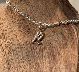 Bracelet oder Fusskette mit Schwinger-Anhänger