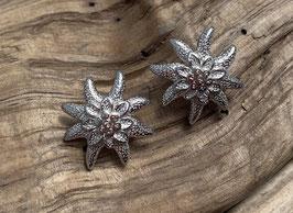 Ohrstecker Edelweiss gross Silber 925