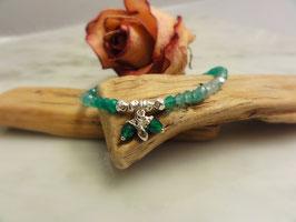 Bracelet grüne Achatrondellen