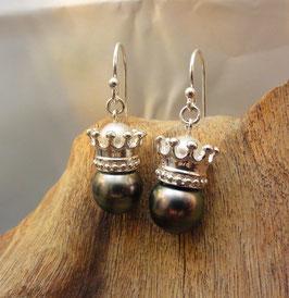 Perlenohrhänger Krönchen