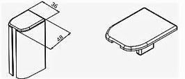 Abdeckkappe für GR-Profil gerundet (74128), Art.Nr. 75033