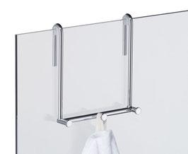 Hakenleiste 3 mit 3 Haken, für Glasdusche zum Einhängen an Glaskante