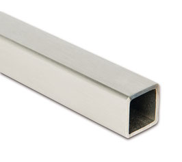 Stabistange-Vierkant 15 x 15 mm; Edelstahl poliert oder gebürstet, Länge: 1000 oder 2000 mm, , Art.Nr. 542025