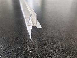 Dusch-Türdichtung für 6 mm Glasstärke, mit langer Dichtlippe unten, 100 cm - HL007-5104