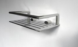 Edelstahl Duschkorb gerade, stabile Ausführung