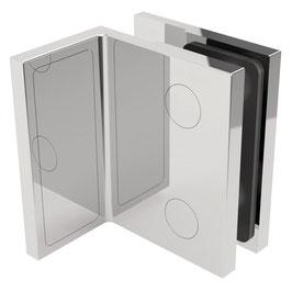 Serie SM-Elena, Winkelverbinder Wand/Glas 90°