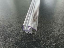 Dusch-Türdichtung mit doppelter Dichtlippe unten und Abtropfleiste aus hartem Kunststoff, hochtransparent (glasklar), Länge: 100 oder 65 cm - Art.Nr. S009B1
