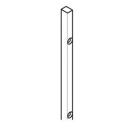 Trägerprofil für Duschtürdichtungen zum Aufstecken einer Duschtürdichtung, Länge: 2000 mm