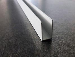 U-Profil für feststehende Glasabtrennung; Aluminium silber matt eloxiert; Typ PP-GU30/40-8, Art.Nr. 67770/67780
