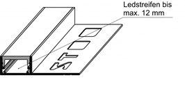 LED U-Profil (Alu) mit Verfliesungsschenkel mit LED Abdeckprofil (PMMA)