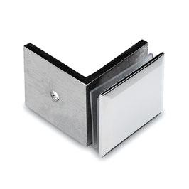 Winkel, Glas/Wand 90°, V2A, für Glasstärke 8 - 12 mm, Art.Nr. 4112
