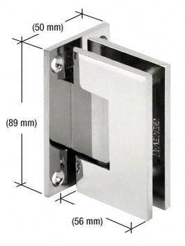 Serie Geneva, Pendel-Wand-Scharnier, eckig - GEN037, für Wandmontage, beidseitige Anschraubplatte