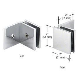 Quadratischer Halter für feststehendes Glasteil, mit langem Schenkel für Festteil, Art.Nr. SGC0398