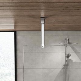 Edelstahl Stabistange-Set Vierkant 20x20 mm für Glasdusche, Glas-Decke (vertikal),  Art.Nr. 6415