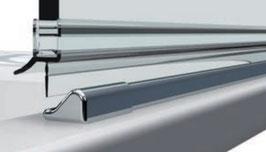 Schwallprofil-Set inkl. Schwallschutzprofil Länge 1860 mm; kpl. mit Endstücke und Eckverbinder Art.Nr. 8535/8536
