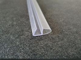 seitliche Ballondichtung für Duschtür mit Anschluss im 90°-Winkel, schließbar an Glaskanten und Aluprofile - Art.Nr. 007B