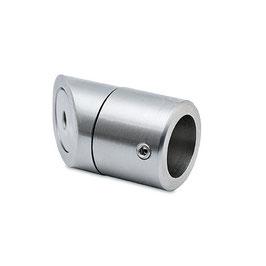 V2A Wandflansch für 19 mm Stabistange (45°), Art.Nr. 626