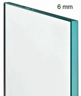 ESG Einscheiben Sicherheitsglas für Duschtrennwand; Klarglas; Dicke 6 mm