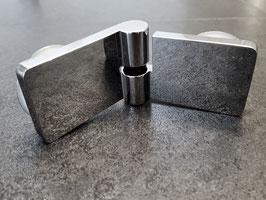 Serie Diamant 40, Glas-Glas-Scharnier (Tür an Glasscheibe) mit Hebe-Senk-Funktion 180° oder 135°, Art.Nr. 390506/7