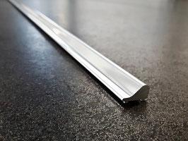 Schwallprofil aus Metall,  15 x 8 mm; Länge 100 cm - S1L